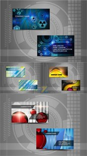 Link toVector technology business card design templates