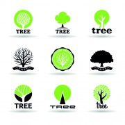Link toVector trees logos creative design set 02 free