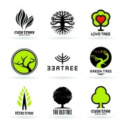 Link toVector trees logos creative design set 04 free