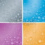 Link toVector water drops background
