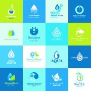 Link toVector water elements logos set