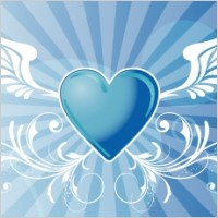 Link toVector winged heart background