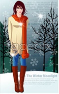 Link toVector winter women 8