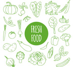Link toVegetable seamless background vector