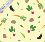 Link toVegetable seamless vector background