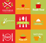 Link toVegetarian foods logo vector