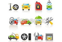 Link toVehicle maintenance design elements vector