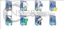 Link toVertical blue folder icon