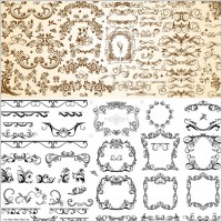 Link toVery useful set of europeanstyle pattern vector