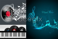 Link toVibrant music background vector