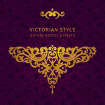 Link toVictorian pattern background vector