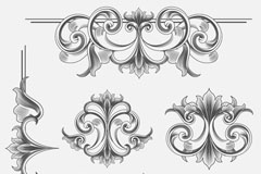 Link toVictorian pattern vector