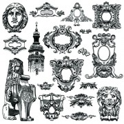 Link toVictorian style decorative elements vector graphics 02 free