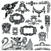 Link toVictorian style decorative elements vector graphics 04 free