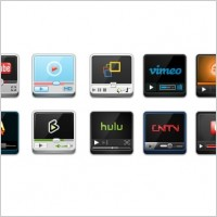 Link toVideo websites player icon icons pack
