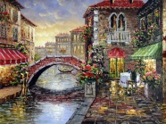 Link toVillage oil painting in europe and america the beautiful scenery pictures