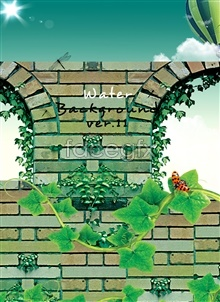Link toVine wall poster plant insect buildings psd