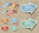 Link toVintage arrow sticker vector