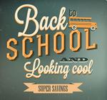 Link toVintage back to school flyer vector