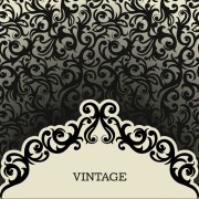 Link toVintage background with decoration pattern vector free