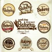 Link toVintage bakery labels creative vector set 01