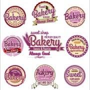 Link toVintage bakery labels creative vector set 02