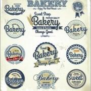 Link toVintage bakery labels creative vector set 03