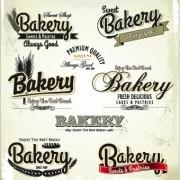 Link toVintage bakery labels creative vector set 04