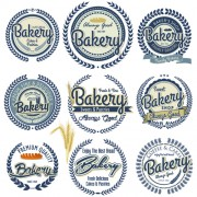Link toVintage bakery vector labels free