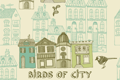 Link toVintage bird city vector illustration
