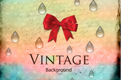 Link toVintage bow drops backgrounds vector