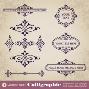 Link toVintage calligraphic and frame design vector