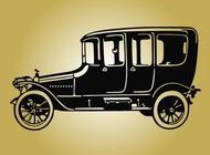 Vintage car image vector free