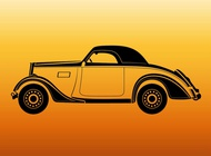 Link toVintage car outlines vector free