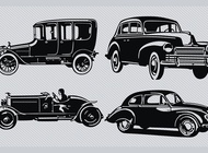 Link toVintage car silhouette pack vector free