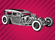 Link toVintage car sketch vector free