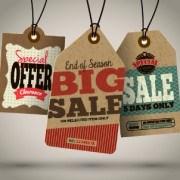 Link toVintage cardboard sale tags vector 02