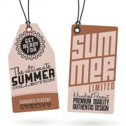 Link toVintage cardboard summer discount tags vector 01 free