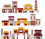 Link toVintage chinese ancient architecture vector