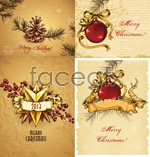 Link toVintage christmas card vector