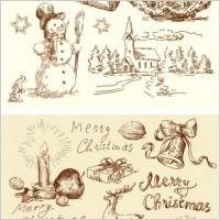 Link toVintage christmas illustration vector