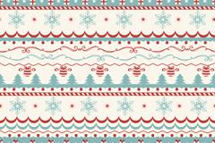 Link toVintage christmas tree decoration patterns vector background