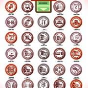 Link toVintage computer system icons vector set