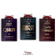 Link toVintage creative labels tags vector set 03 free