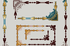 Link toVintage decorative border design vector