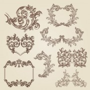 Link toVintage decorative borders and frames with corners vector free