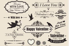 Link toVintage decorative valentine borders vector