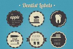 Link toVintage dental care tag vector