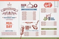 Link toVintage elegant restaurant menu design vector