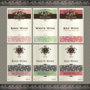Link toVintage elements of wine labels vector 04